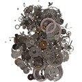 Cymii 50g Un Paquete Reloj de Chatarra De Diferentes Piezas de BRICOLAJE Materiales de Arte Accesorios de Reparación Del Reloj Filetea Kits de Piezas