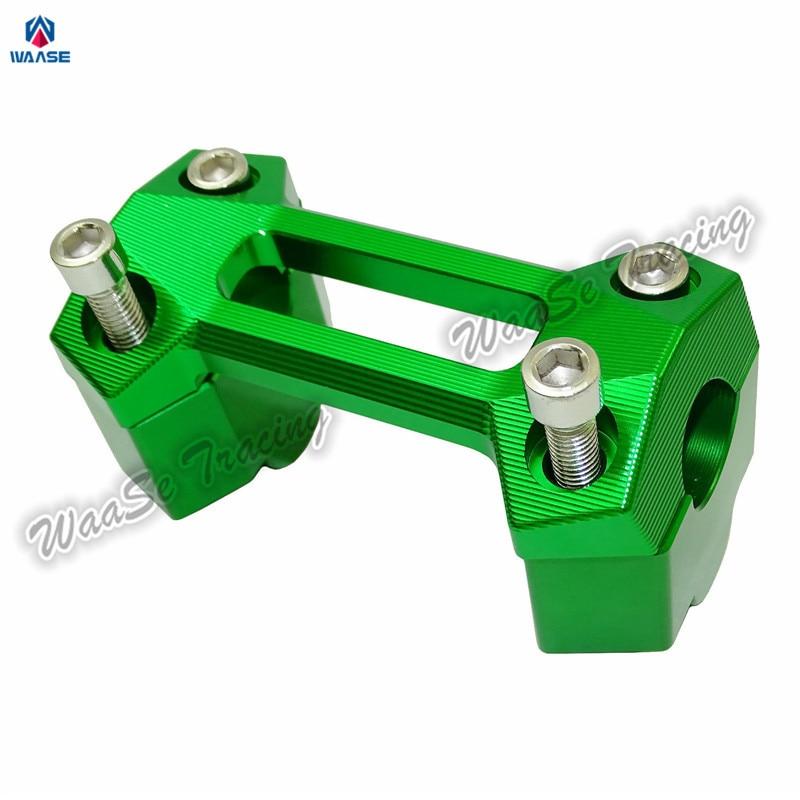 waase Handlebar Handle Bar Riser Clamp Kit For Kawasaki Z250 Z300 Z800 waase front