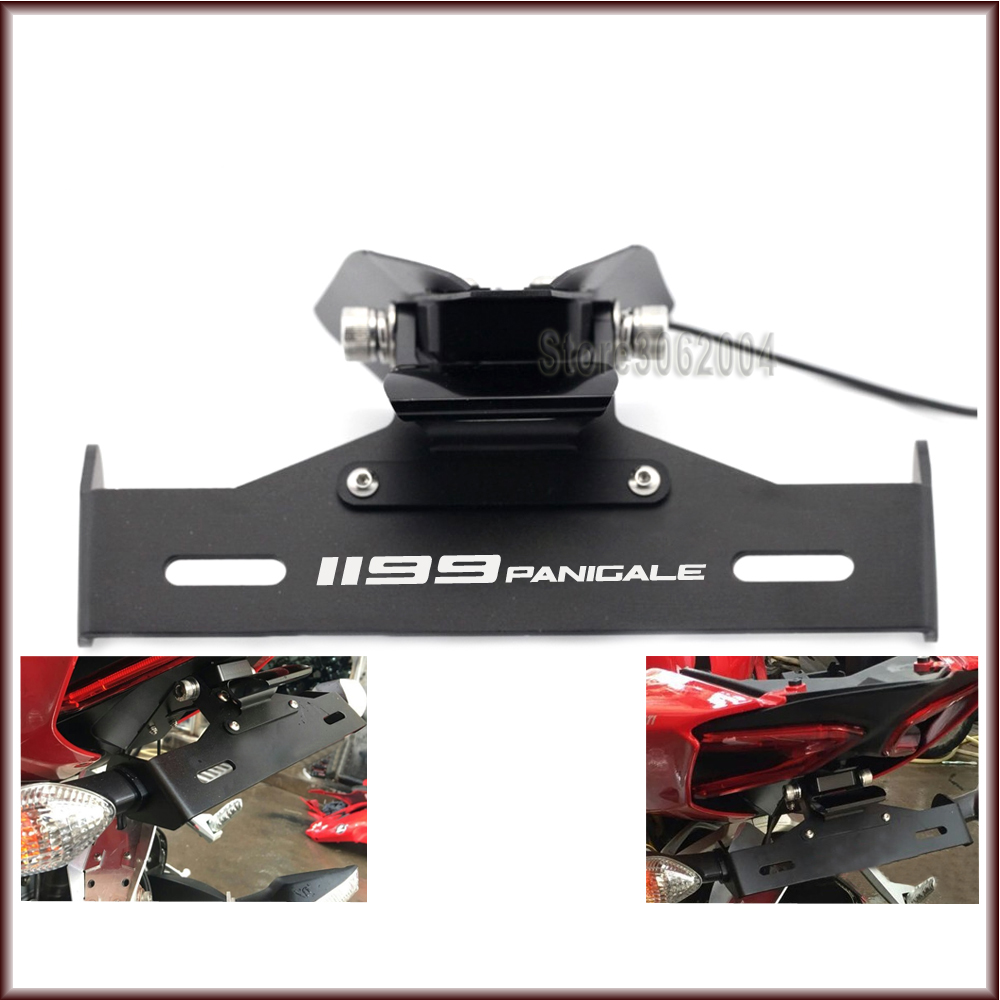 For DUCATI Panigale 1199 /S/R 1199Panigale 2012-2014 Motorcycle Tail Tidy Fender Eliminator Registration License Plate Holder motorcycle tail tidy fender eliminator registration license plate holder bracket led light for kawasaki er6f er 6f 2012 2014 13