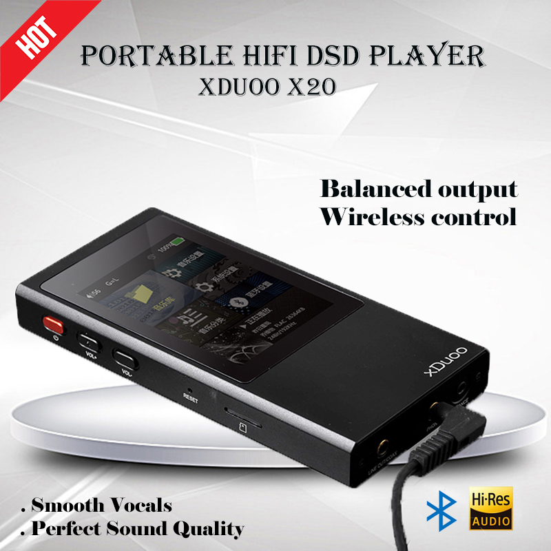XDuoo X20 32Bit 384kHz Portable Lossless Music Player Bluetooth 4.1 HiFi MP3 Player Support Native DSD 2.5mm Balanced Output musiland monitor monitor 04 mx tf card player 32bit 384khz usb dac pc hifi dsd digital stream output usb2 0 3 5mm 6 25mm output