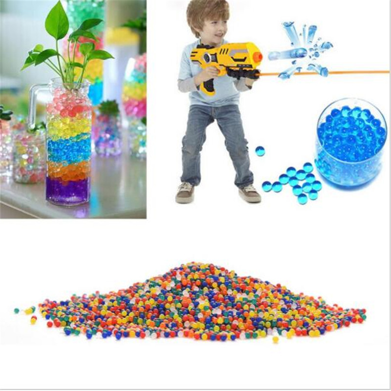 10000pcs packet orbeez colorful soft crystal water paintball gun bullet grow water beads grow balls water