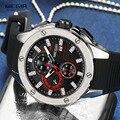 MEGIR  мужские спортивные кварцевые часы  модный силиконовый ремешок  хронограф  наручные часы для мужчин  светящиеся стрелки  водонепроницае...