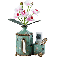 American retro paper towel box European creative multi function remote control receives carton and living room flower inserts