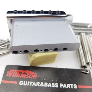 Image 4 - ווילקינסון 6 בורג סוג ST גיטרה חשמלית טרמולו מערכת גשר לstrat גיטרה כרום כסף WOV02