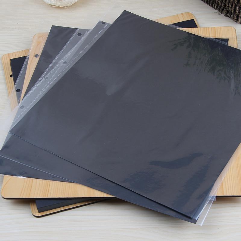 30 Pcs 27 X 27 Cm 16 Inch Transparent Clear Pocket Protectors For 16 Inch Wooden DIY Scrapbook Photo Album