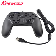 USB Wired Controller Gamepad Double Motor Vibration For S-w-i-t-c-h N-S Support version 3.0 for PC