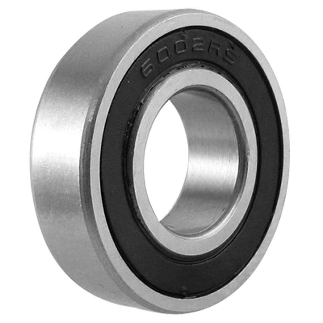 KSOL 15mm X 32mm X 9mm Width Single Row Deep Groove Sealed Radial Ball Bearing 6002RS