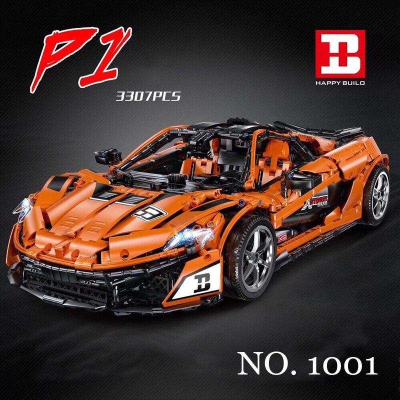 Technic série P1 Hypercar 3307 pièces MOC-16915 F1 Super ensembles de voitures de course modèle Kits de construction blocs briques jouets pour enfants cadeaux