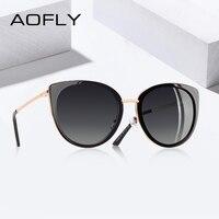 89250aeb1 AOFLY 2019 BRAND DESIGN Cat Eye Sunglasses Women Vintage Ladies Polarized  Sun Glasses Female Shades Metal