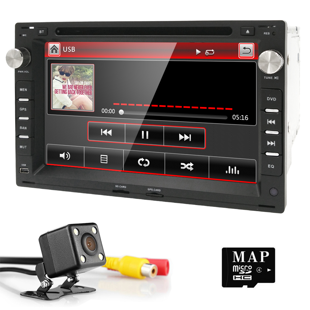 2 din car gps navigation dvd player for volkswagen vw. Black Bedroom Furniture Sets. Home Design Ideas