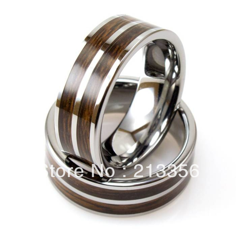 free shipping wholesales cheap price promotion sales usa hot selling mens tungsten ring with - Koa Wood Wedding Rings