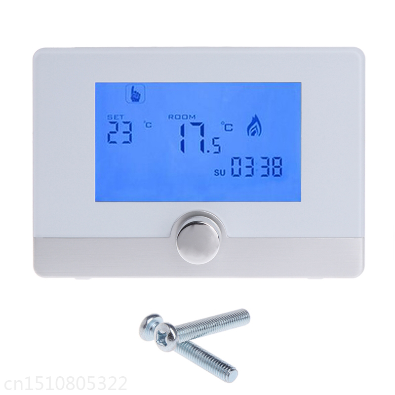 Programmable Digital Room Thermostat for Wall-hung Gas Boiler Heating System 5A gas boiler thermostat wall hung boiler heating thermostat programmable gas boiler thermostat for room 3a