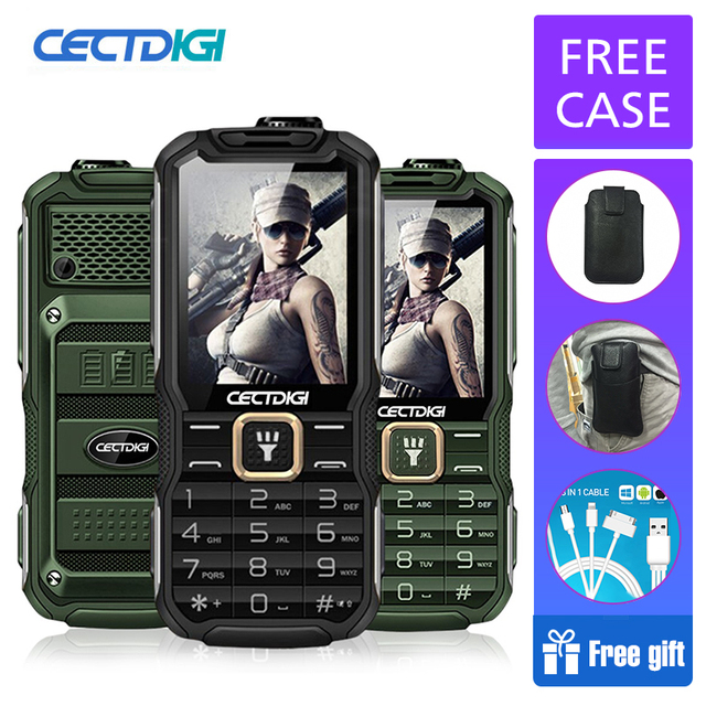 Rugged shockproof phones Russian mean Power Bank Cectdigi T9900 Dual Sim 15800mAh Dual Flashlight FM GSM old man mobile phone