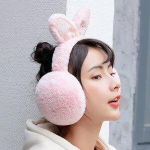 겨울 토끼 귀 귀 덮개 여성 따뜻한 귀 머 거리 니트 귀 따뜻하게 크리스마스 여성 소녀 봉 제 귀 Muffs Earlap 따뜻한 PS-03