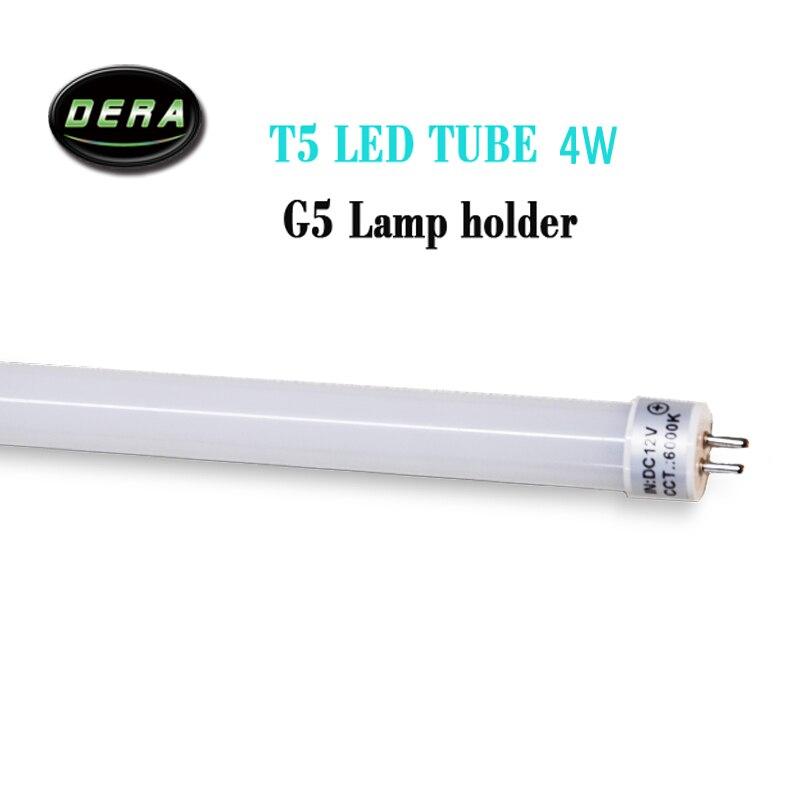 5 pièce T5 tube de LED 10 w 12 w DC12V 710mm 860mm tube de LED lumière fluorescente G5 support de lampe tube de remplacement