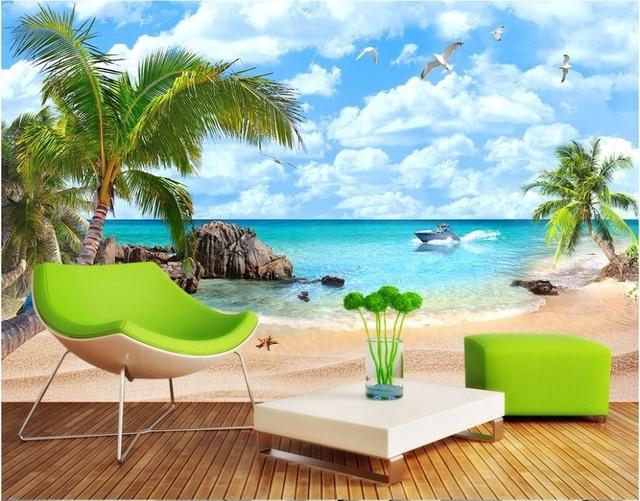 Custom Photo Designs 3d Wall Murals Wallpaper Seaview