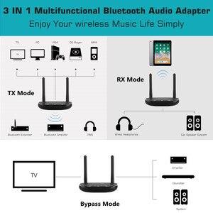 Image 5 - VIKEFON 80m ארוך צלצל Bluetooth 5.0 אודיו מקלט משדר עוקף Aptx HD השהיה נמוכה CSR8675 AUX אופטי אלחוטי מתאם
