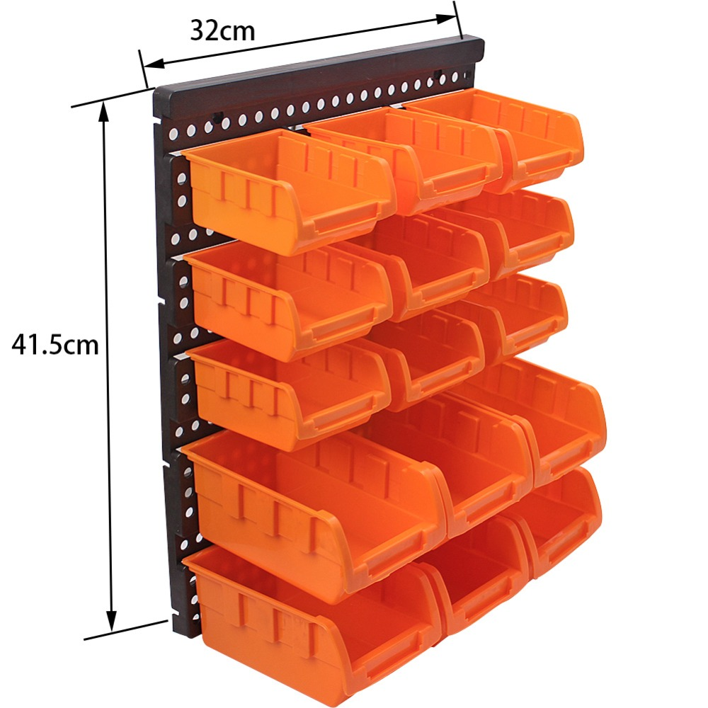 ABS Wall-Mounted Storage Box Tool Parts Garage Unit Shelving