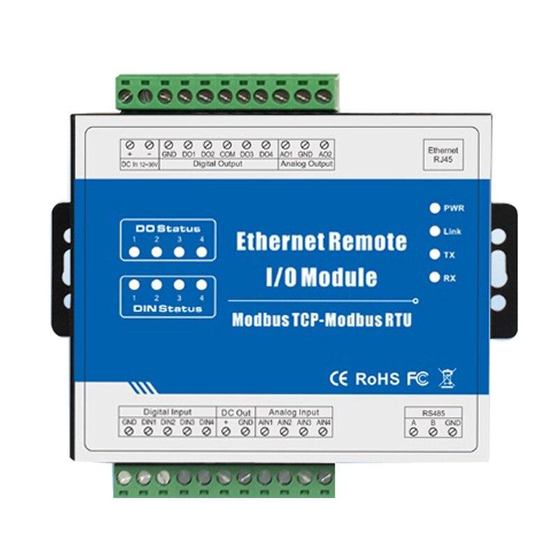 Modbus TCP RTU Ethernet à distance Module IO surveillance Web 4 sortie numérique + RJ45 + RS485 prise en charge de la sortie PWM M220T - 5
