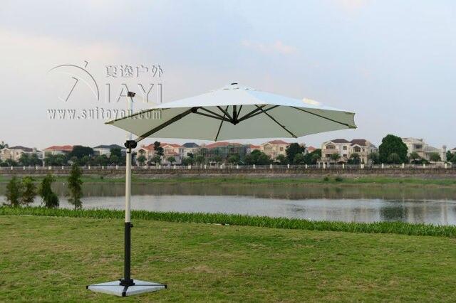 Dia 3 meter brushed aluminum outdoor sun umbrella garden parasol patio sunshade furniture covers ( no stone base )