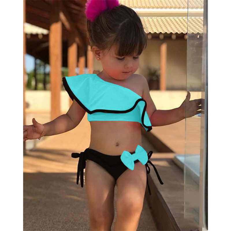 Vertvie 2019 Baby Kids Meisje Tweedelige Badpak Zomer Kind Badmode Voor Water Sport Bikini Zwemmen Jurk Strand Badpak