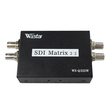 Купить с кэшбэком Wiistar New Arrival SDI Matrix 2x2 Switcher Switch 2 way 3G-SDI Sources to two Output With Power Adapter