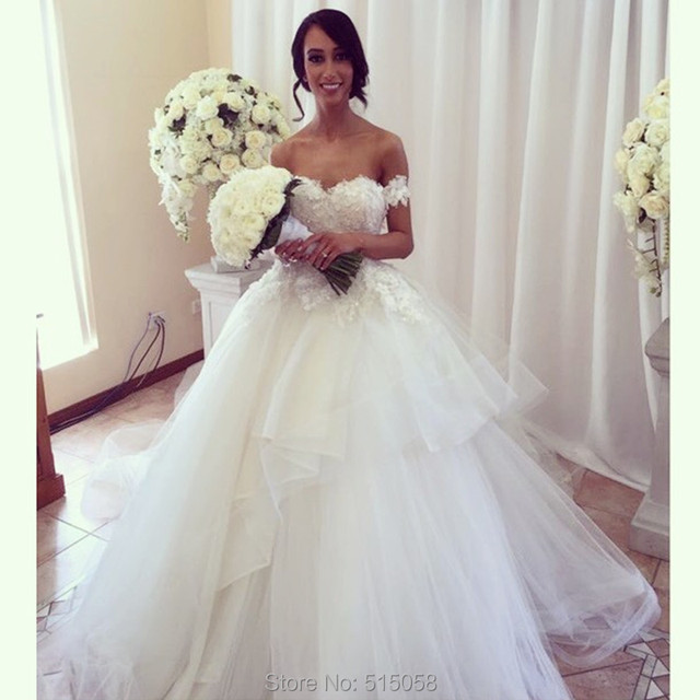 Trajes De Novia 2015 Removable Straps Lace Sweetheart Organza ...