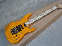 Top Quality Quilt Maple China Custom Shop Yellow Electric Guitar Jackson Guitar 14815
