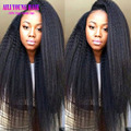 Italian Yaki Full Lace Wig Glueless 150 Density Full Lace Human Hair Wigs With Baby Hair Brazilian Kinky Straight Lace Front Wig
