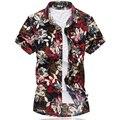 Nova Moda de Alta Qualidade Dos Homens de Manga Curta de Seda Havaiano Camisa Mais tamanho 4XL 5XL 6XL 7XL Verão Casual Floral Camisas Para Os Homens 5z