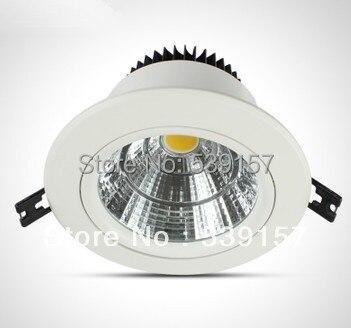 Лидер продаж COB 12 Вт/15 Вт/20 Вт/30 Вт вниз свет утопленный свет, С PowerSupply AC85 ~ 265 В