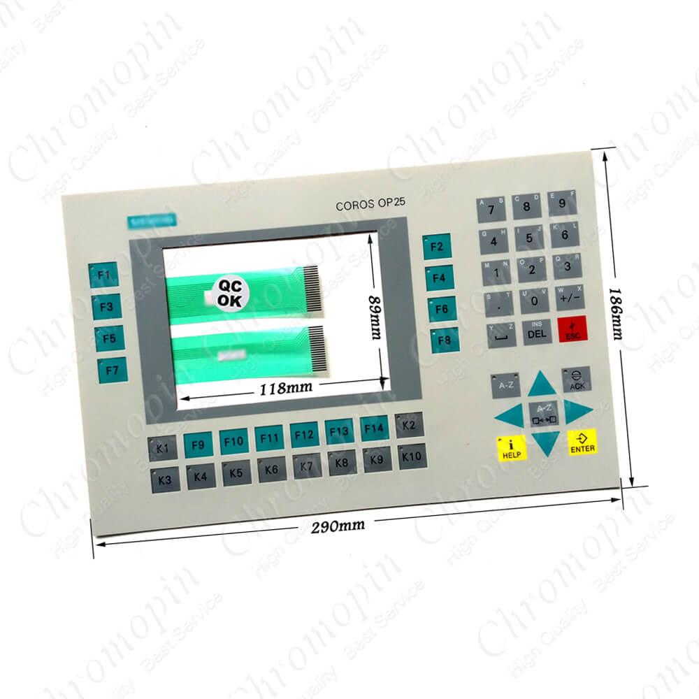 Membrane Keypad Switch Keyboard for 6AV3525-1EA01-0AX0 OP25