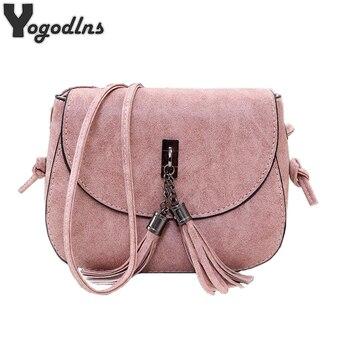 2018 New Arrival Women Tassel Messenger Bags Vintage Designer Handbags High Quality Shoulder Bag CrossBody Bag Mini Purse