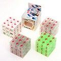 3x3x3 Zcube estilo Chino Mahjong Cubos Mágicos Rompecabezas Velocidad Cubo Cubos Suave Transparente Luminoso Juguetes Educativos para Los Niños