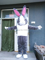 2017 New Mascot Costume Adult Character Costume Mascot As Fashion Freeshipping Cosplay Mr Gray Rabbit
