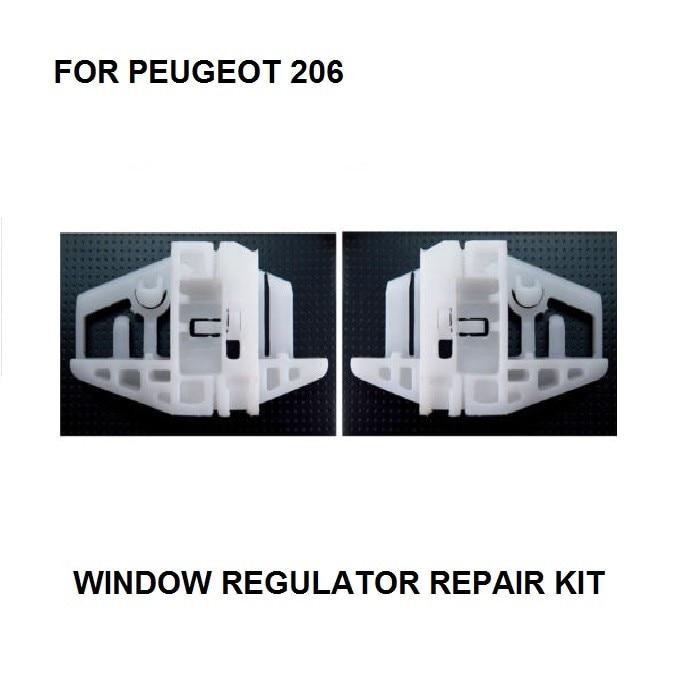 WINDOW REGULATOR KIT FOR PEUGEOT 206 WINDOW REGULATOR REPAIR KIT CLIPS FRONT RIGHT 1998-2007