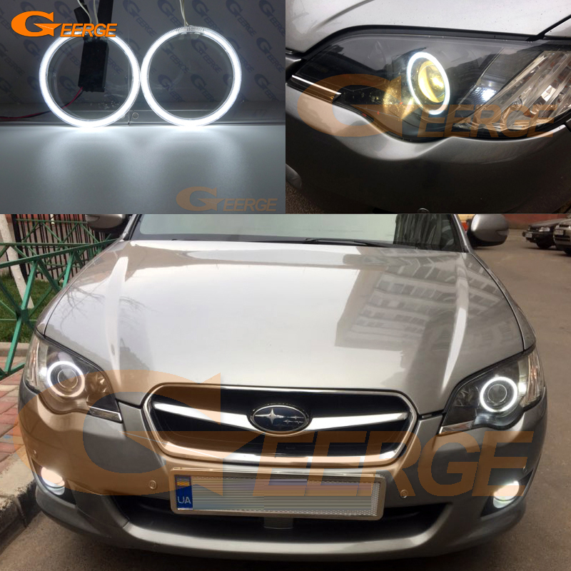 цена For Subaru Legacy 2007 2008 2009 Excellent angel eyes Ultrabright illumination CCFL Angel Eyes kit Halo Ring