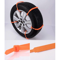 10pcs Set Winter Anti Skid Chains For Car Truck Snow Mud Wheel Tyre Tire Cable Ties