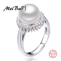 100 Real Freshwater Pearl Sunflowwer Ring For Women 925 Sterling Silver Adjustable Flower Ring With AAAA