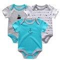 Roupas de bebê real verão 2017 meninos clothing set recém-nascidos do bebê provérbios bodysuit menino geral, semelhante Estilo Bodysuits Meninas