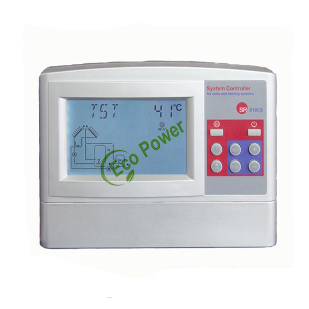 SR618C6 solar controller LCD Display Intelligent solar water heater ...