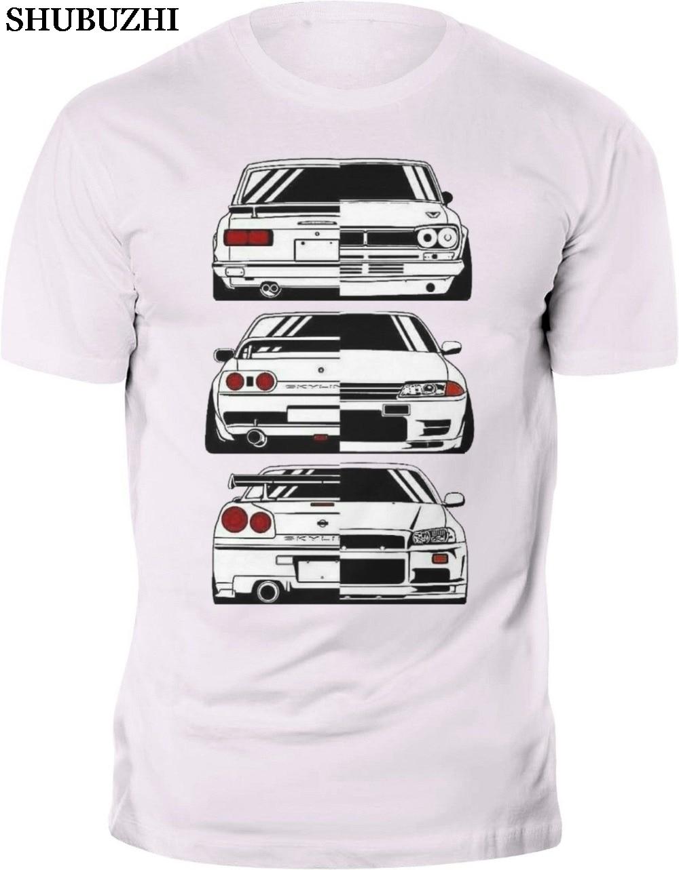 cotton Summer Round Neck Men'S T-Shirt Fashion New T-Shirt Japan Car Skyline 2000 R32 R34 Gtr Evolution Jdm Tee Shirts For Men