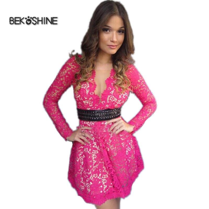 Bekoshine Nuevos Vestidos de 2017 Mujeres Del Otoño Vestido de Moda ...