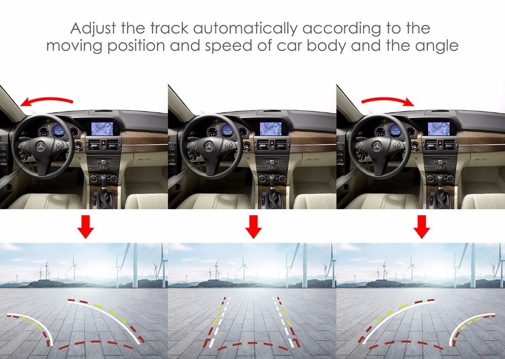 ANSHILONG auto tagantvaade koos liikuva dünaamilise trajektooriga HD - Autode Elektroonika - Foto 3