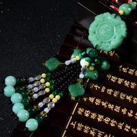 Car Ornaments Emerald Jadeite Pendant Chinese Style Brave troops Safe trip wherever you go Auto Interior Accessories