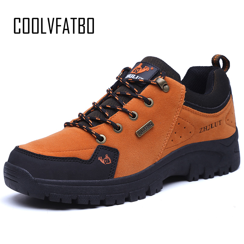 COOLVFATBO2018 Spring Men Leather Boots Fashion Waterproof Round Toe Sneakers Mens Combat Desert Casual Shoes Big Plus Size 47
