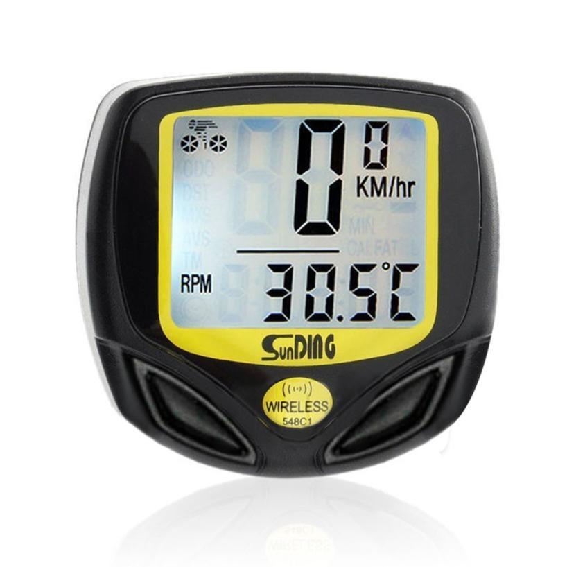 Timistar#503 Riding essentials Waterproof Bicycle Speedometer Wireless Cycle Bike Meter Computer Odometer