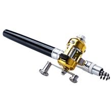 New Mini Portable Pocket Pen Fishing Set Rod Aluminum Alloy Pole Reel Combos Lightweight Ice Fishing Kits of Rods+Reel new mini portable pocket fish pen aluminum alloy rod of fishing pole reel combos lightweight ice rods reel fishing kits