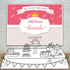 Little Prince Baby Shower Birthday Crown Invitation Celebration Party Backdrops Photography Background Allenjoy Customize