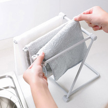 1 Pcs Foldable Rag Storage Rack Kitchen Countertop Dish Cloth Wipe Cup Holder Drain Creative Home Washcloth